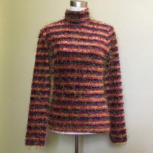 Vintage 80s CACHE eyelash turtleneck sweater L
